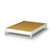 South Shore SoHo Collection Queen Size Platform Bed White Twin/Double