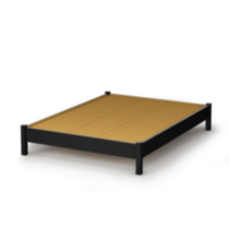 South Shore SoHo Collection Queen Size Platform Bed Black Twin/Double