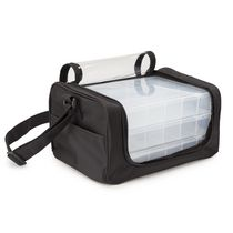 Darice Nylon Storage Bag with 3 Plastic Organizers