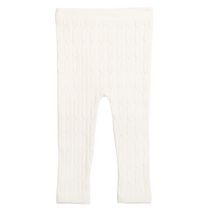 George baby Girls' Cable Knit Leggings Natural 6-12 months