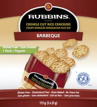 Rubbins Gluten Free Barbeque Crinkle Cut Rice Crackers