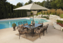 hometrends Isabella 7-Piece Cushioned Dining Set