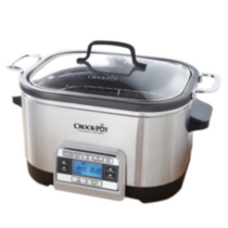 Crock-Pot 5-in-1 Digital Multi-Cooker, Stainless Steel CKCPSCMC6-033