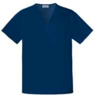 Unisex Solid Scrub Top French Blue M