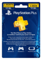 PlayStation® Plus 3 Month Subscription Card
