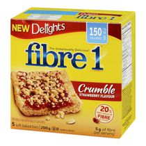 Fibre 1 Delights Crumble Strawberry Flavour Soft Baked Bars