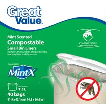 Great Value Mint-X Compostable Small Bin Liners