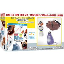 The Secret Life Of Pets (Blu-ray + DVD + Digital HD + 3 Mini-Movies + 3 Character Clip Ons) (Walmart Exclusive) (Bilingual)