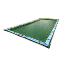 Blue Wave 12-Year Rectangular In-Ground Pool Winter Cover 16 Feet x 24 Feet