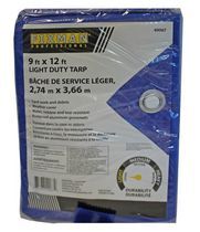 Fixman 9x12 feet Light Duty Tarp with Aluminum Grommets