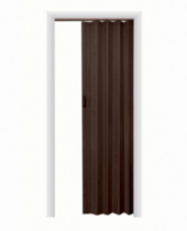 "Home Style Plaza Vinyl Accordion Door, 36"" x 80"", Espresso"