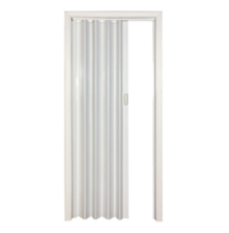 "Home Style Plaza Vinyl Accordion Door, 48"" x 96"", White"