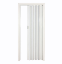 "Home Style Vienna Vinyl Accordion Door, 36"" x 80"", White"