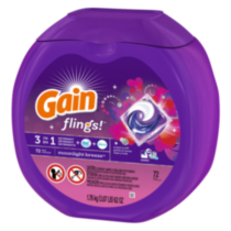 Gain flings! Midnight Breeze  3 in 1 Detergent Pacs
