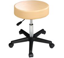 Master Massage Beauty Rolling Swivel Hydraulic Massage Stool Cream Luster Color Beige