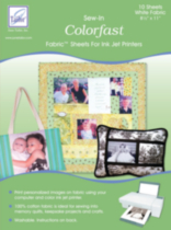Sew-In Colorfast Fabric™ Sheets for Ink Jet Printers -- Value Pack