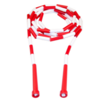 10-ft Beaded Jump Rope (White/Red)