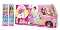 Barbie Pop-Up Camper and Beach Doll Bundle with Barbie and Nikki