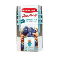 Rubbermaid TakeAlongs Yogurt & Go Food Containers