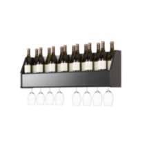 Floating Wine Rack Black