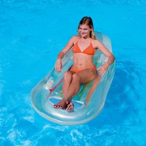 Splash & Play Designer Fashion Tanning Inflatable Pool Lounge - White