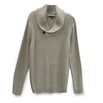 George Men's Shawl Collar Sweater Beige X-Large