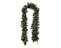 "9' x 12"" Prelit Garland With 150 Clear Lights"