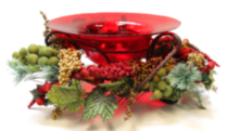Floating Candle Decorative Bowl-Red