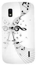 Exian Case For LG Nexus  4, Musical Notes - White