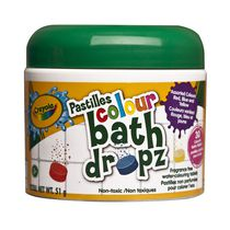Crayola Pastilles Colour Fragrance Free Bath Dropz - 30 Tablets