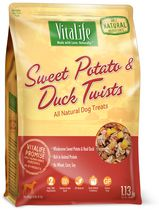 VitaLife Sweet Potato and Duck Twists All Natural Dog Treats