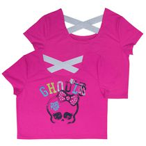 Monster High Ghouls Girls Cross Back Straps Tee XS/TP