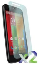 Exian Screen Protector for Motorola Moto G, Clear - 2 Pieces