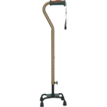 Hugo Adjustable Quad Cane for Right or Left Hand Use, Cocoa, Small Base