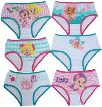Nickelodeon Girls Bubble Guppies 6 Pack Briefs 3T