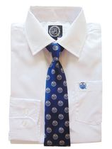 NHL Edmonton Boy's Long Sleeve Dress Shirt and Tie 4