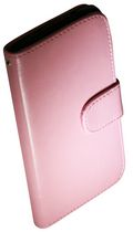 Exian Case for Nexus 5 - Leather Wallet with Card Slots Pink