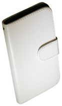 Exian Case for Nexus 5 - Leather Wallet with Card Slots White
