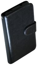 Exian Leather Wallet Case for HTC One Black