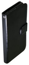 Exian Leather Wallet Case for Xperia Z1 Black