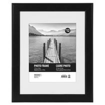 "Uniek Swift Frame 11""x14"" matted to 8""x10"" Black"
