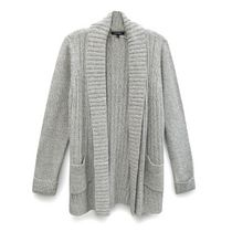 George Women's Ribbed Cardigan Natural XXL