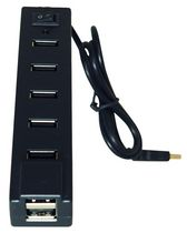 Exian 7 Port USB Hub - Black