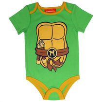Teenage Mutant Ninja Turtles Baby Boys' Short Sleeve Onesie 0-3 months