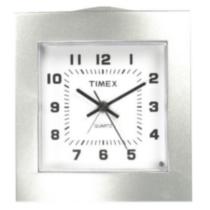 Timex Bedside Desktop Alarm Clock Silver Walmart Ca