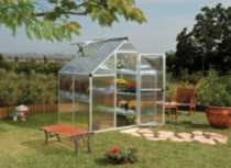 Palram 6' x 4' Mythos Twin Wall Greenhouse - Silver