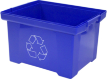 Recycling Bin Box, Blue, 35L