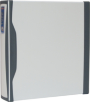 Storex Duratech 2-Inch Binder, Hard Poly, White