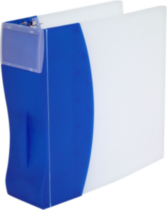 Storex Duratech 3-Inch Binder, Hard Poly, Blue