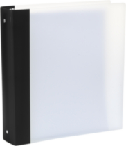 Storex Flexicolor 1.5-Inch Binder, Black Spine